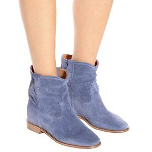 NEW Isabel Marant Crisi Suede Ankle Boot Blue